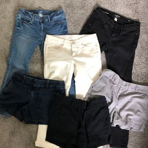 Multiples pants and shorts from the loft